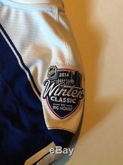 Jonathan Bernier Game Worn Toronto Maple Leafs 2014 Winter Classic Jersey NHL