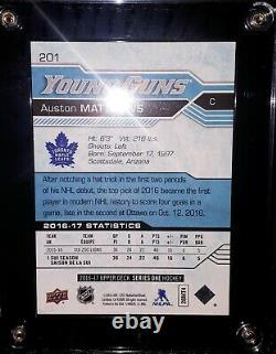 Leafs Auston Matthews Young Guns RC + Connor McDavid 2nd Year UD TIN-FRESH S