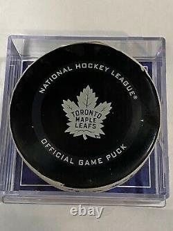 MITCH MARNER Game Used GOAL Puck THORNTON ASSIST LAST HOME POINT TORONTO LEAFS