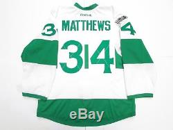 Matthews Toronto Maple Leafs St. Pat's Team Issued Reebok Edge 2.0 7287 Jersey