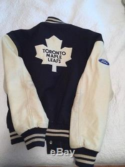 Mens Toronto Maple Leafs Leather Wool NHL Hockey Varsity Jacket XL XLarge