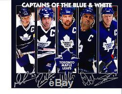 NHL 8x10 Signed Hockey Toronto Maple Leafs Sittler Vaive Clark Gilmour Sundin