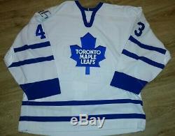 Nathan Dempsey, Game Worn, Jersey, Eishockeytrikot, Toronto Maple Leafs, mit LoA