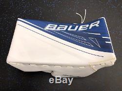 New! Bauer 1s Toronto Maple Leafs NHL Pro Stock Goalie Blocker Nxg James Reimer