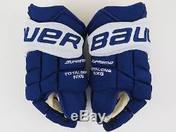 New! Bauer NXG Toronto Maple Leafs NHL Pro Stock Return Hockey Player Gloves 14