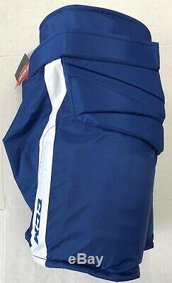 New CCM Pro Stock Toronto Maple Leafs hockey goalie pants royal Med HPG14A Fit 1