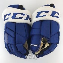 New! CCM Tacks Toronto Maple Leafs NHL Pro Stock Hockey Gloves 14 Leivo