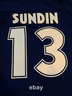 Nike Toronto Maples Leafs VTG Rare MATS SUNDIN Signed NIKE JERSEY Large L EUC