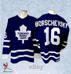 Nikolai Borschevsky Toronto Maple Leafs Game Worn Jersey