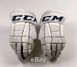 Pro Stock Pro Return 14 CCM HGCL Gloves Toronto Maple Leafs 2018 Stadium Series