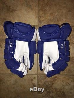 Pro Stock Pro Return 14 Toronto Maple Leafs CCM Gloves Made In Canada