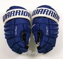 Pro Stock Pro Return 14 Warrior Alpha QX Hockey Gloves Toronto Maple Leafs