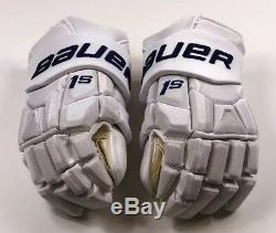 Pro Stock Pro Return 15 Bauer 1S Gloves Toronto Maple Leafs 2018 Stadium Series