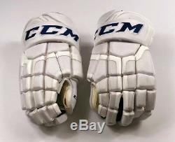 Pro Stock Pro Return 15 CCM HG50 Gloves Toronto Maple Leafs 2018 Stadium Series