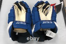 Pro stock Toronto Maple Leafs CCM Tacks hockey gloves 14Justin Holl SR NHL TOR