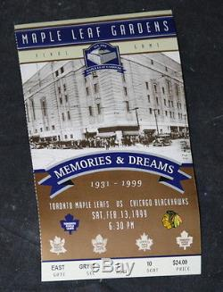 RARE Maple Leaf Gardens Final Game Ticket With COA Toronto vs Chicago