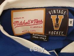 RARE Mitchell & Ness 1966/7 Toronto Maple Leafs Tim Horton Jersey NHL PLAYOFFS