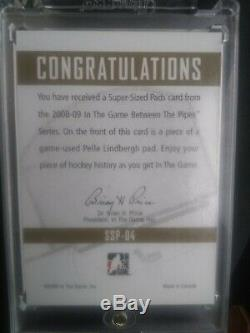 RARERARE2008 Pelle Lindbergh ITG Between The Pipes GOLD Super Sized Pads Card