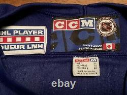 Rare 1999 Toronto Maple Leafs Captain Mats Sundin Hockey Jersey