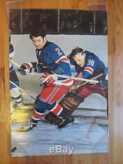 Rare 70s BRAD PARK New York Rangers vs TORONTO MAPLE LEAFS Poster