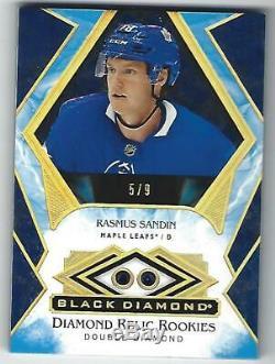 Rasmus Sandin 19/20 UD Black Diamond CDD Blue Sapphire Double Diamond Rookie /9