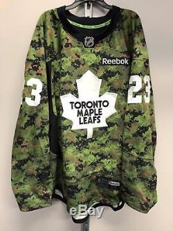 Reebok Toronto Maple Leafs NHL Pro Stock Hockey Player Military Jersey 58 Army