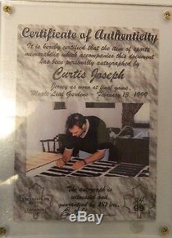 Signed Curtis Joseph Cujo Toronto Maple Leaf Gardens Last Season