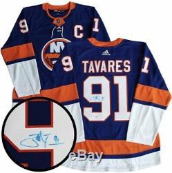 Signed John Tavares Adidas New York Islanders NHL Jersey Toronto Maple Leafs