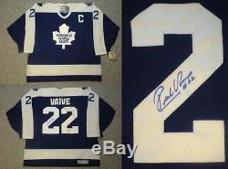 Signed Rick Vaive Toronto Maple Leafs Vintage Jersey