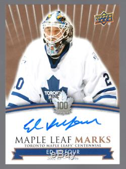 Sp Ed Belfour Last One Auto Maple Leaf Marks Toronto Maple Leafs Centennial Wow