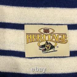 Stall & Dean Toronto Maple Leafs King Clancy 7 NHL Hockey Wool Sweater Jersey