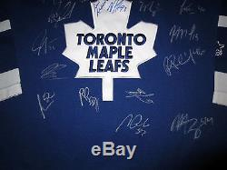 TORONTO MAPLE LEAFS 2015-16 TEAM SIGNED Autographed JERSEY with COA Phaneuf Lupul+