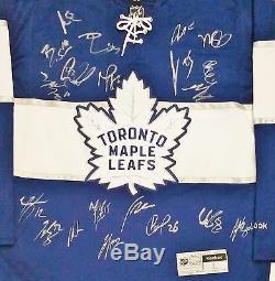 Toronto Maple Leafs 2016-17 Team Signed Rbk Jersey+ Coa Auston Matthews