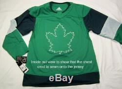 TORONTO MAPLE LEAFS- size 52 = Large ADIDAS 2020 St. Pats Green Hockey Jersey