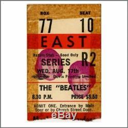 The Beatles 1966 Toronto Maple Leaf Gardens Ticket Stub (Canada)