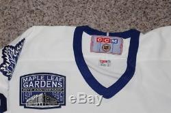 Tie Domi CCM Toronto Maple Leafs 1996 Gardens 85th Patch NHL Hockey Jersey XL