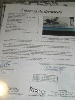 Tim Horton Autographed Program Page Toronto Maple Leafs Hockey HOFer JSA Letter