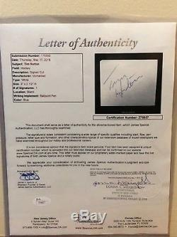 Tim Horton Autographed Signature 2x2.5 Cut JSA COA LETTER Toronto Maple Leafs