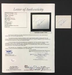 Tim Horton Signed Cut 2 x 2.5 Toronto Maple Leafs NHL Hockey Autograph JSA