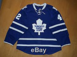 Toronto Maple Leafs 2013/14 BOZAK #42 GAME WORN USED Jersey COA NHL Edge 2.0