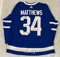 Toronto Maple Leafs Auston Matthews Signed Inscribed Adidas Jersey Fanatics