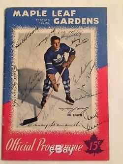 Toronto Maple Leafs Autograph Program Bill Barilko Turk Broda Syl Apps + More
