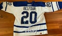 Toronto Maple Leafs Brand New XL Autographed Ed Belfour White Hockey Jersey