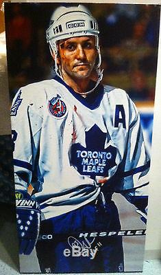 Toronto Maple Leafs Doug Gilmour Signed NHL Autographed 14x28 Canvas Hockey HOF