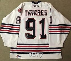 Toronto Maple Leafs John Tavares Game Worn Oshawa Generals OHL jersey Pic in it