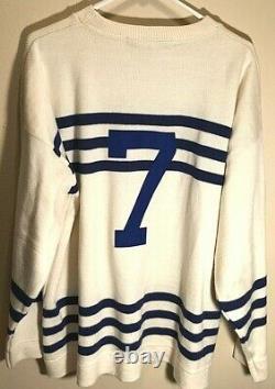 Toronto Maple Leafs King Clancy #7 HOF Vintage Ebbets Field Sweater Jersey XL