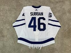 Toronto Maple Leafs MIC Adidas Authentic NHL Game On Ice Jersey 56 Fight Strap