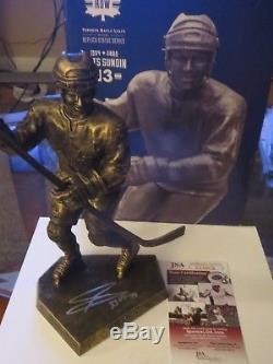 Toronto Maple Leafs Mats Sundin Signed Legends Row Statue Jsa Authenticated