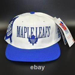 Toronto Maple Leafs Sports Specialties Laser Shadow Vintage 90s Snapback Cap Hat
