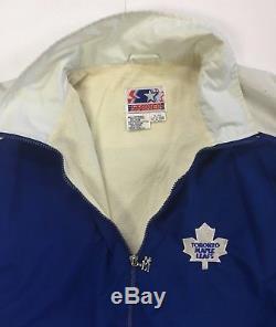 Toronto Maple Leafs Team Issued Players Starter Jacket 1990 Harold Ballard Patch
